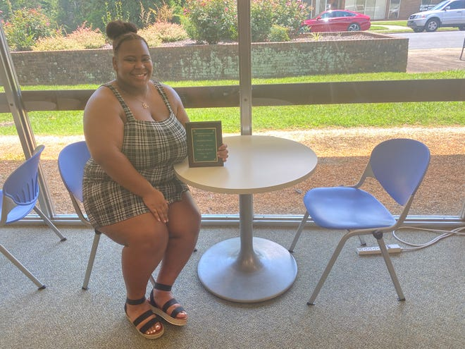 Kasual Marley is proud to be the first-ever black valedictorian at Eastern Randolph High and looks forward to future accomplishments.