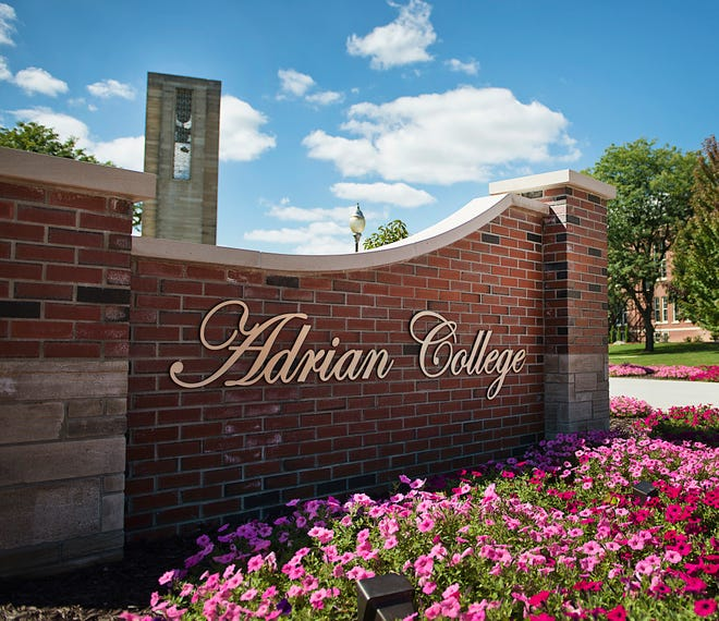 An entrance sign to the campus of Adrian College is pictured. Adrian College has been recognized by Colleges of Distinction for its student-centered approach to education.