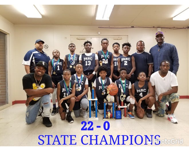 The West Ascension Recreation 11- and 12-year-old basketball team went 22-0 and won a state championship.