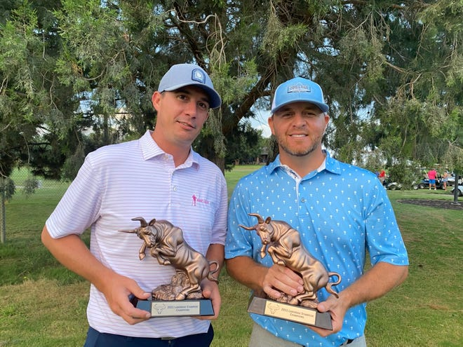 Seminole golfers Kale Hughes, left, and Brady Shivers, right, won the LakeRidge Stampede on Sunday for the second time in four years.