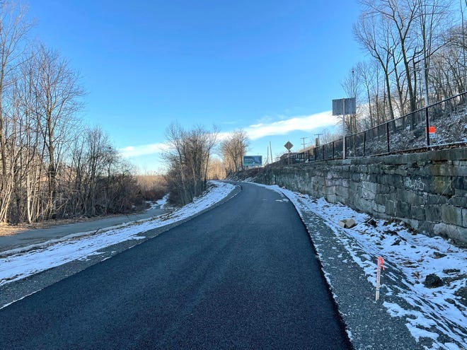 Construction of the Twin Cities Rail Trail has moved ahead in recent months. This is how the trail looks between the Fifth Street Bridge and Duck Mill Road in Fitchburg. Route 12 is on the right, and the Nashua River and MBTA train tracks are on the left.