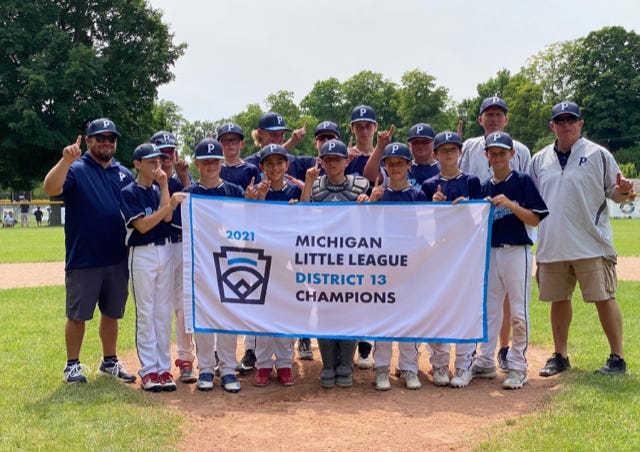 The Petoskey 12-year-old Little League All-Stars earned a District 13 title and opened league play recently in Grosse Pointe Farms.