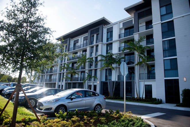 Solera at City Centre contains 10 percent workforce housing units last month in Palm Beach Gardens.