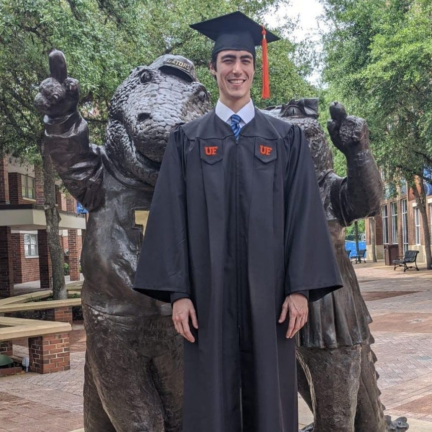 Moises Rodan, who died in the June 24, 2021, collapse of Champlain Towers South, graduated from the University of Florida.