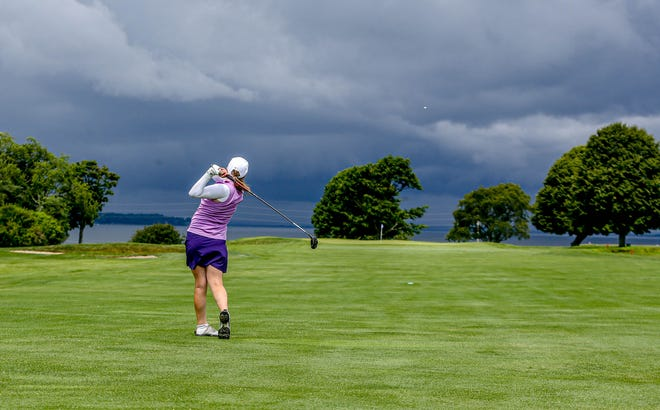 While the skies were dark and stormy across the bay, the sun was shining on Gianna Papa and the rest of the field at Wanumetonomy Golf and Country Club during the first round of the RIGA Women's State Amateur Championship.
