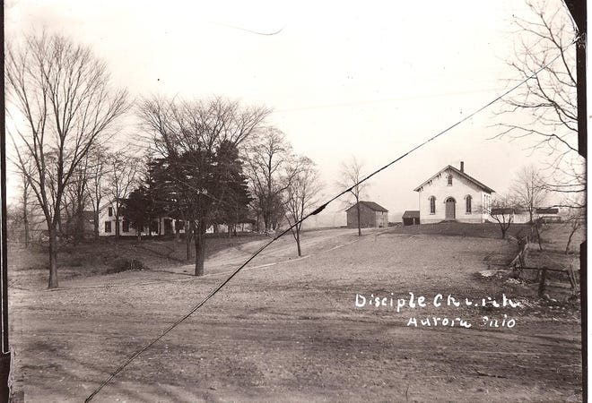 The Disciples' Church was located in the northeast corner of the Aurora Memorial Library parking lot.