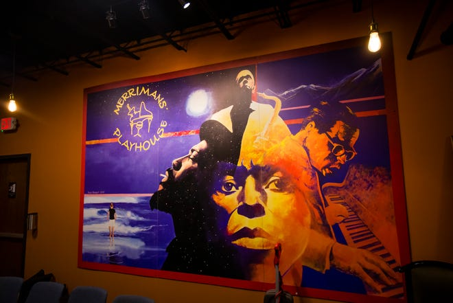The Merrimans' Playhouse mural has been recreated and placed at the new location inside the Commerce Center in South Bend.