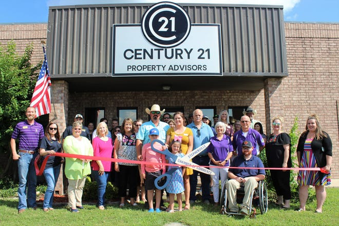 The Stephenville Chamber of Commerce welcomed new member Century 21 Property Advisors with a Ribbon Cutting Ceremony on Thursday, July 8. Century 21 Property Advisors provide real estate services for buyers and sellers in the Stephenville and North Central Texas area including land, residential and commercial properties. With a great team of knowledgeable advisors, Century 21 Property Advisors are equipped to help with all real estate needs. For more information, visit bit.ly/RC-Century21