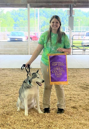 Brooklyn Henderson brought home the Grand Champion banner for the Overall Top Dog at the 2021 Owen County Fair.