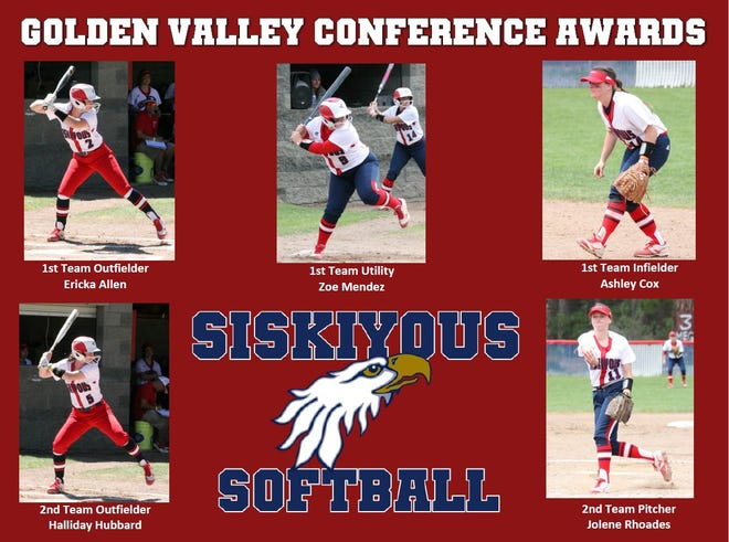 Five members of the College of the Siskiyous softball team were named to the Golden Valley Conference team.