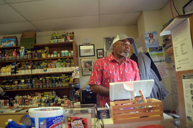 Dodge City Market co-owner Terre Holloway keeps a watchful eye on his home community of Duffyfield.