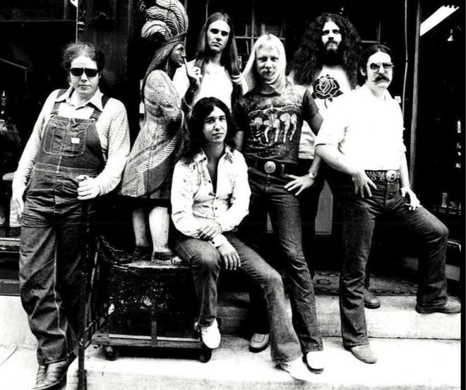 """Robert E. """"Robby"""" Steinhard, second from the right, violinist and vocalist for the progressive rock band Kansas, died Saturday of complications from pancreatitis."""