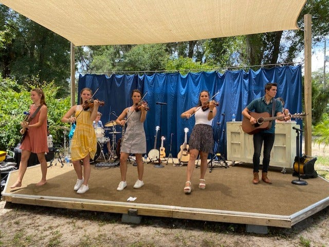 The Amazing Shaw Family Band performed Sunday an event held at A New Day Oasis Ministries in southeast Gainesville.