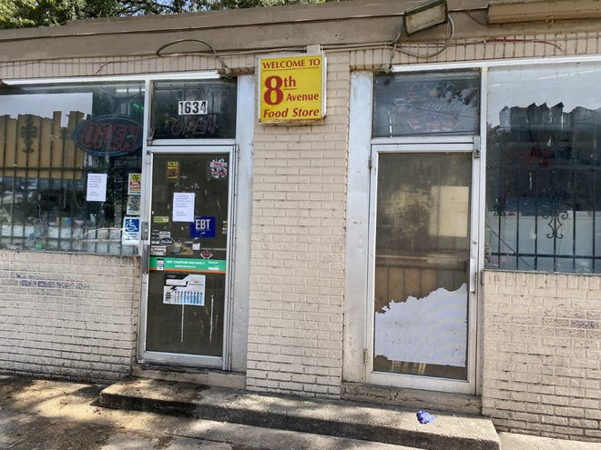 The 8th Avenue Food Store, located about 1634 NE Eighth Ave., was closed Monday morning in northeast Gainesville after a deadly drive-by shooting outside the store Sunday night killed one and wounded four others.