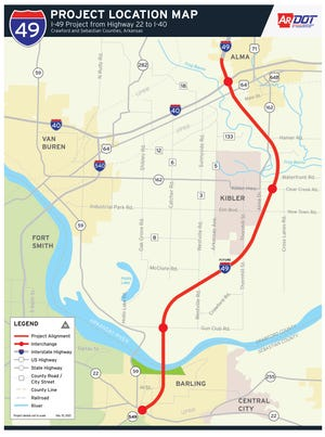 The Arkansas Department of Transportation is moving forward with the next phase of development for the Interstate 49 extension from Alma to Barling.