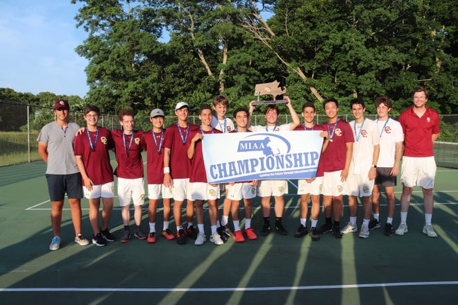 The Concord Carlisle High School varsity men's tennis team won the D2 State title.