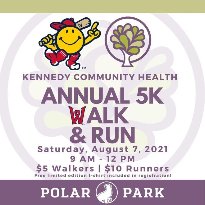 A flyer for the Kennedy Community Health Annual 5K Walk & Run.