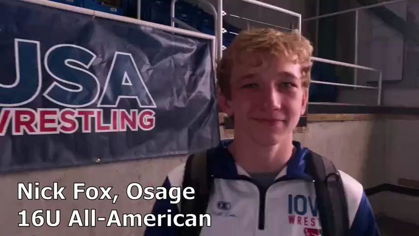 Osage's Nick Fox became an All-American at the 16U national championships
