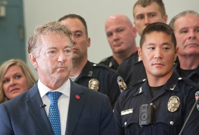 U.S. Sen. Rand Paul lauded Louisville Metro Police officers and MetroSafe Dispatch for their efforts in saving a 6-year-old girl from being kidnapped July 2 in Louisville. July 19, 2021