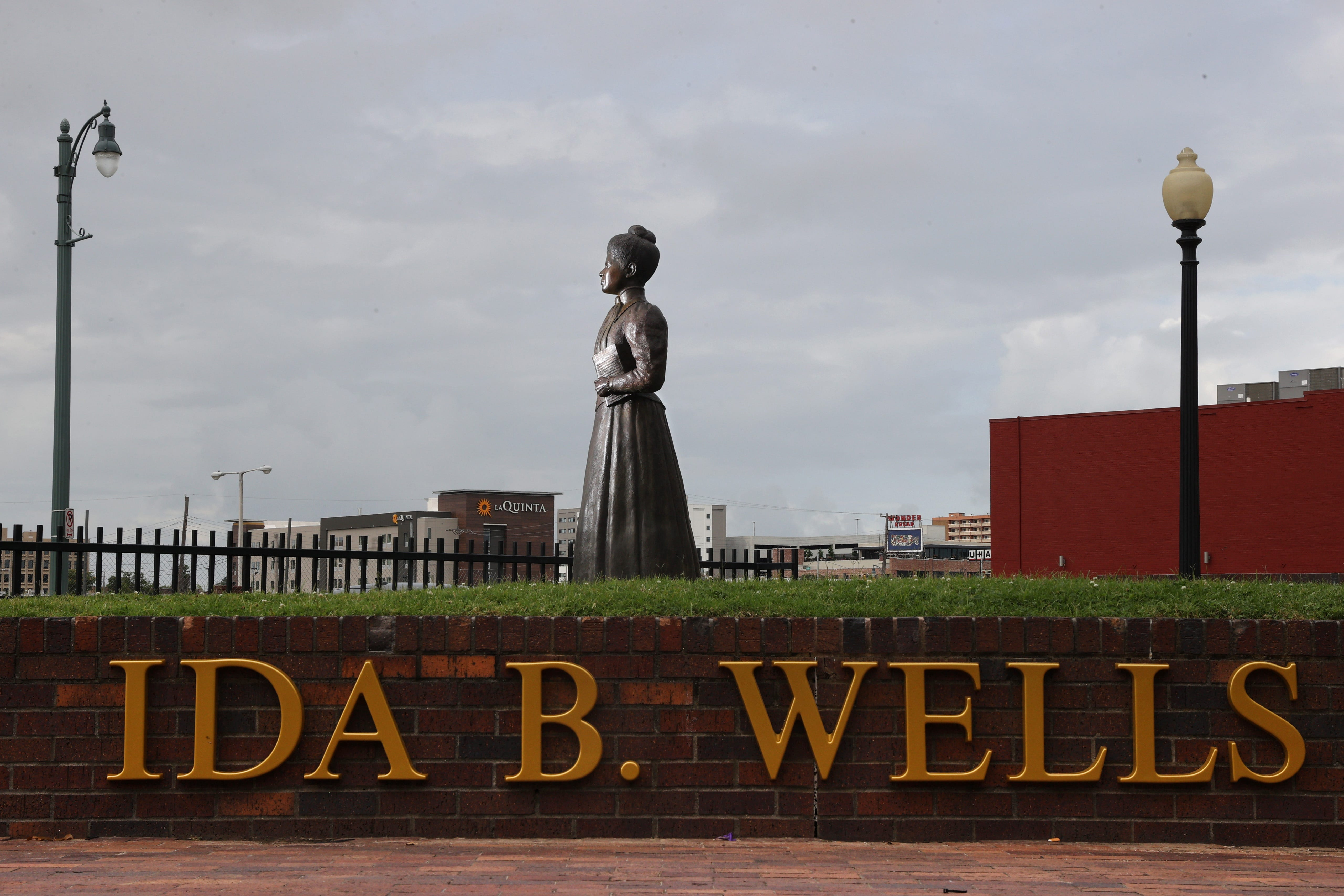 The newest addition to the Downtown Memphis landscape, a statue at the corner of Beale and Fourth Street of Ida B. Wells, the pioneering journalist, educator and civil rights advocate.