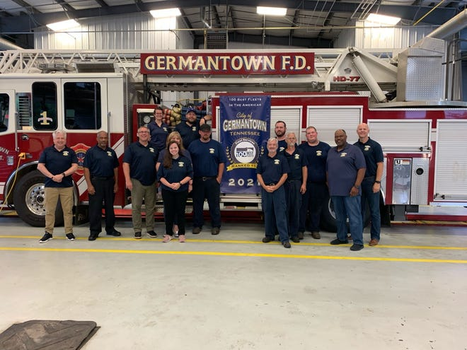 The City of Germantown Fleet Services department ranked in the top 20 of NAFA's 100 Best Fleets in America. The department is pictured along with some city officials.