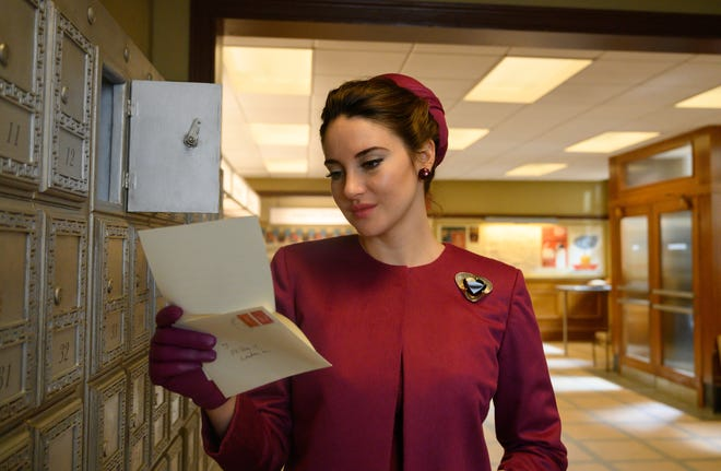 """Shailene Woodley plays a 1960s married woman whose secret intrigues a present-day journalist in """"The Last Letter From Your Lover."""""""