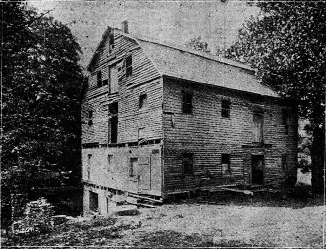 The last known photo of the Elizabethtown Mill. Published in The Muncie Star on Sept. 25, 1927.