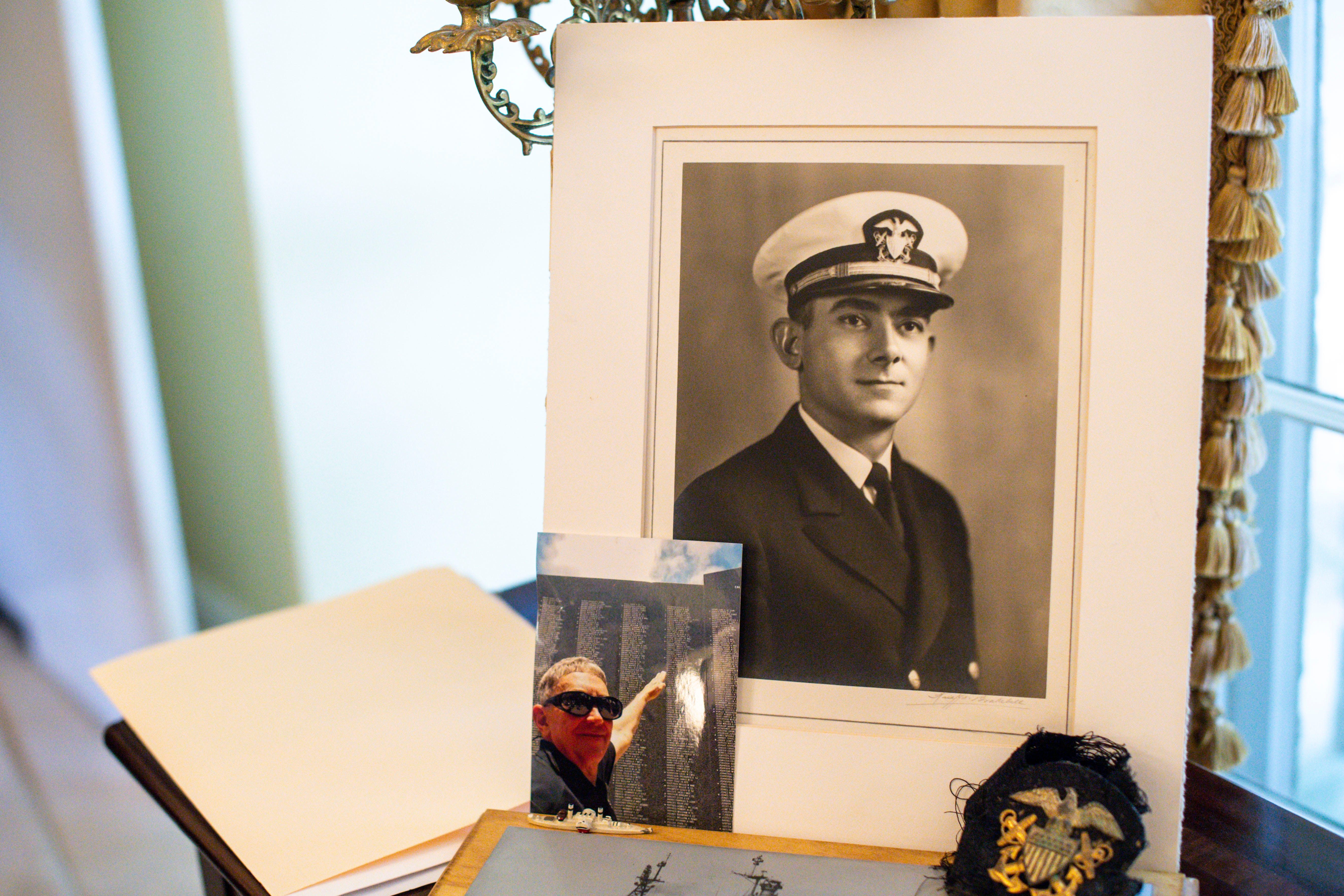 A photo of Earl Henry Sr., the ship dentist for the USS Indianapolis, is seen on display in the Belle Meade home of his son Earl Henry Jr. on Monday, July 19, 2021.