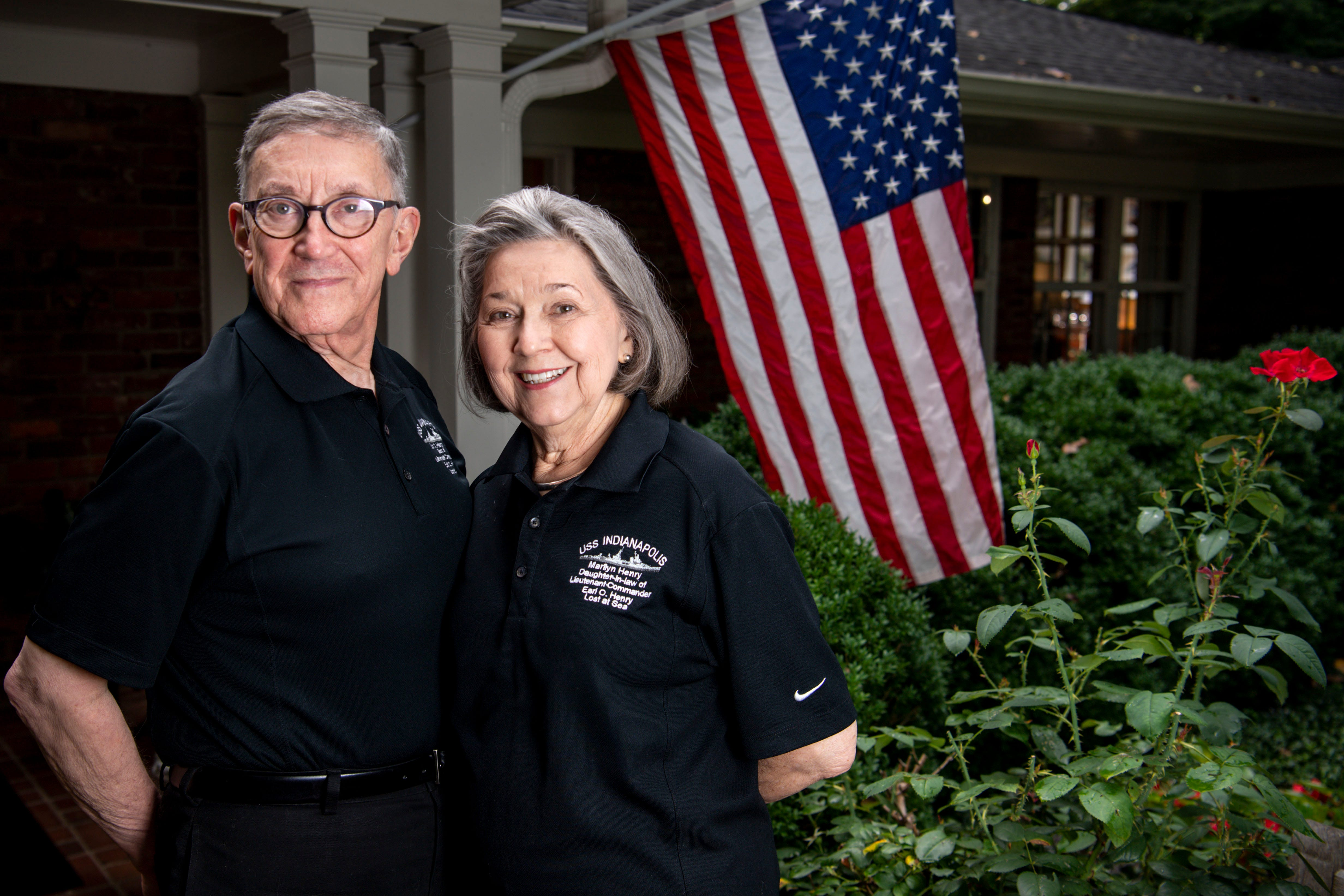 Earl Henry, Jr., and Marilyn Henry are pictured outside their home in Belle Meade, Tenn., on Monday, July 19, 2021.