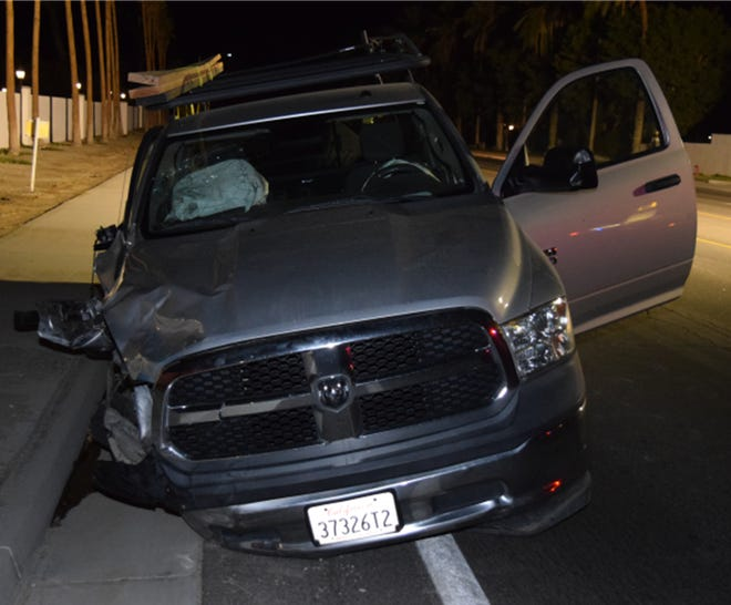 Police on Monday, July 19, 2021,circulated a photograph in an attempt to locate the owner of a pickup truck involved in a hit-and-run crash that left two people severely injured in Indio.