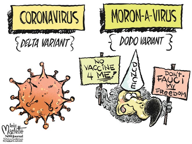 Marlette cartoon: Which infects more people?