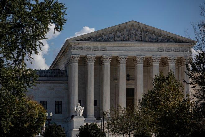 The United States Supreme Court on October 22, 2020 in Washington, D.C.  (Samuel Corum/Getty Images/TNS)