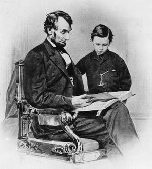 This image of Tad Lincoln with his father, Abraham Lincoln, was taken on Feb. 9, 1864, a year before the Civil War concluded and three years before young Tad visited Richmond.
