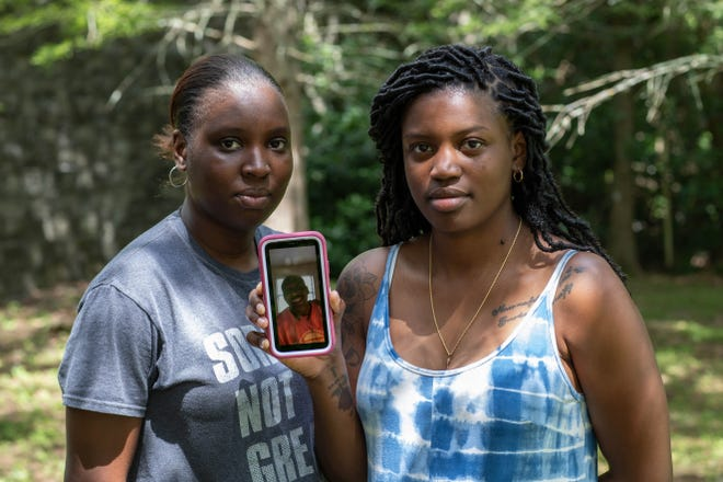 Sisters Alesha McGhee and Devon Livingston, daughters of Benjamin Livingston, are looking for answers after their father was stabbed to death on Monday, July 12, 2021.