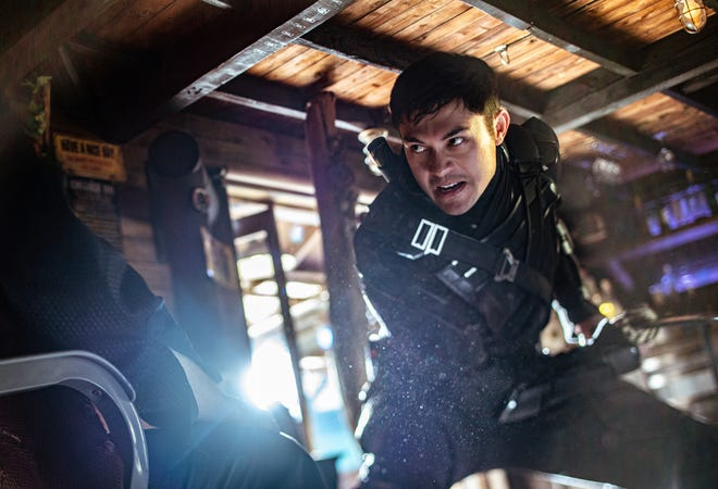 Henry Golding plays Snake in Snake Eyes: GI Joe Origins from Paramount Pictures, Metro-Goldwyn-Mayer Pictures and Skydance.