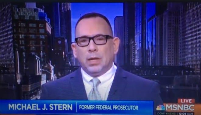 Former federal prosecutor Michael J. Stern on MSNBC on Dec. 26, 2019.