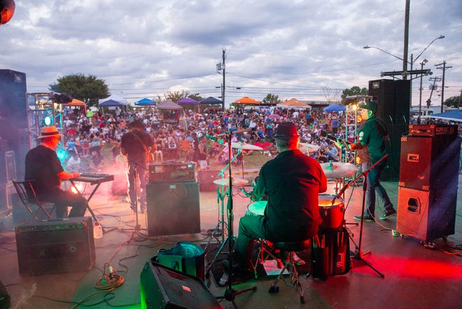Carlos P. Garcia, Jr & The Starlights perform at the Hillside Concert Series in 2019.