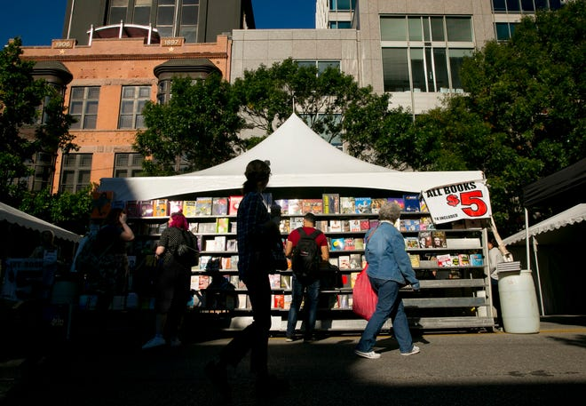 Texas Book Festival, seen here in 2018, will return to in-person events this year after going entirely virtual in 2020.