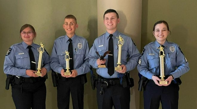 Competition team members included Lt. Jacob Williams, Sgt. Mille Wiita, Officer Emma Denison and Officer Dylan Sharkey.