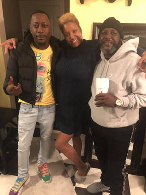 From left to right: Johnny Willingham, Shonda Jones and Robert Willingham during a family reunion. Jones said the family is from Augusta and is still in disbelief about what happened.