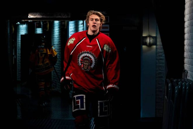 Simon Edvinsson is a mobile 6-foot-4 defenseman from Sweden who's ranked by NHL Central Scouting as one of the top prospects in the 2021 NHL draft, which starts Friday.