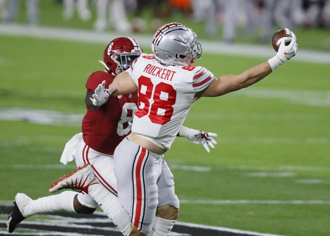 Jeremy Ruckert is the only returning Ohio State tight end with a career catch.