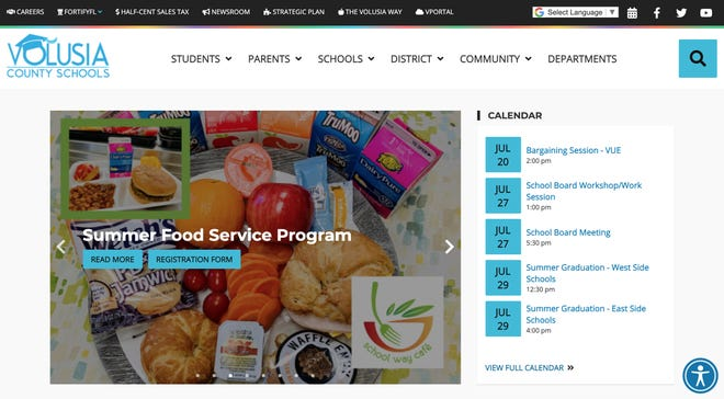 The Volusia County school district won an award for its website, among other things.