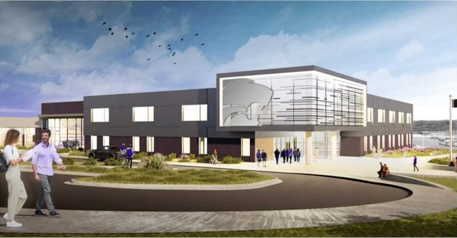 An artist's rendering of the proposed freshman wing at Blue Springs High School.