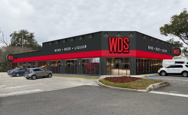 An artist's rendering shows WDs, Winn-Dixie's first stand-alone liquor store planned at 4472 Hendricks Ave. at Miramar Center.