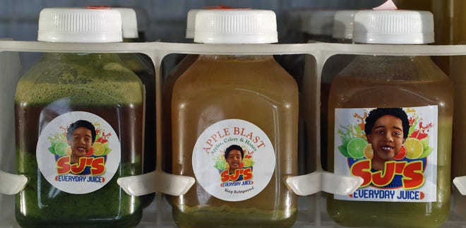 SJ's Everyday Juice for sale inside Mic's Mini Market on West May Avenue Tuesday afternoon, July 20, 2021.