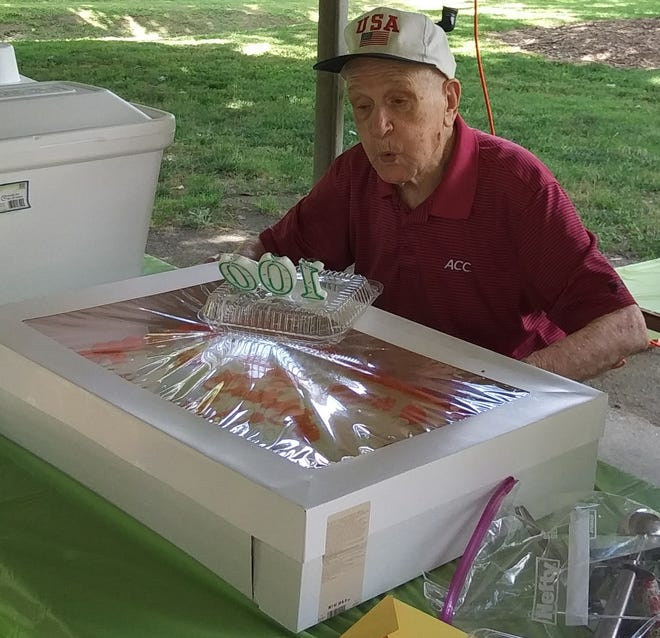 Gastonia resident Al Stowe celebrates his 100th birthday with a party on Saturday, July 17, at Lineberger Park