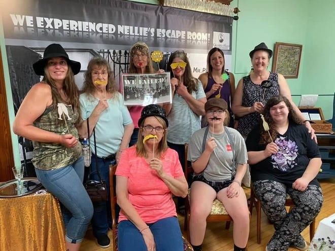 Bridal shower group enjoyed the escape room on July 17.