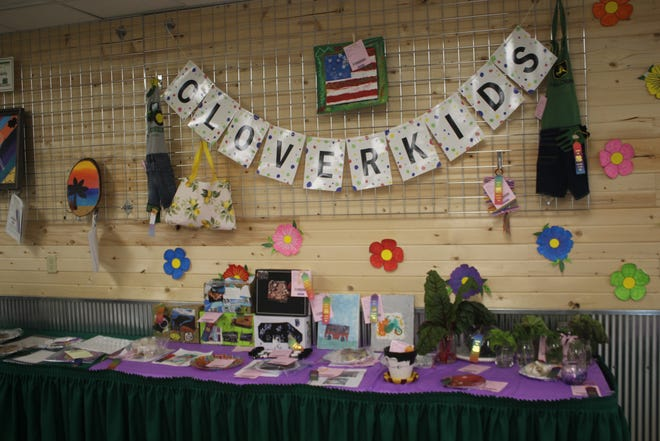 Pictured is a Clover Kids display at the Fremont County Fair.