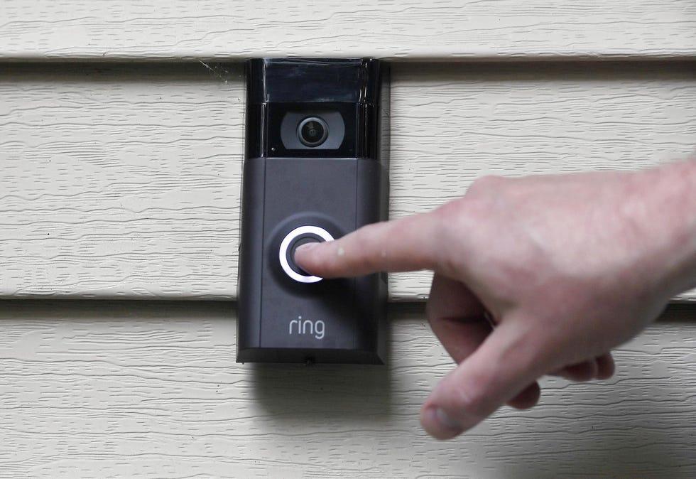 A Ring doorbell camera